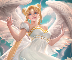 sailor moon, anime, and angel image