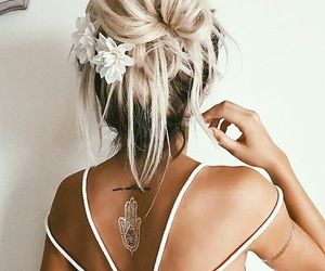 blonde, hair, and style image