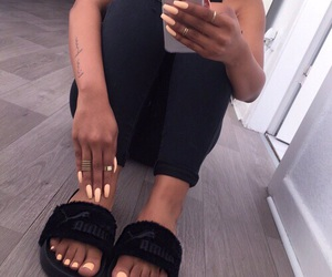 nails, fashion, and black image