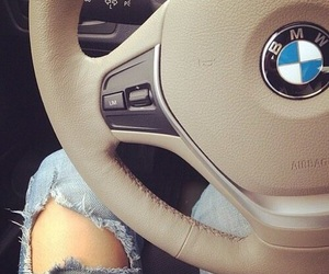 bmw, car, and jeans image