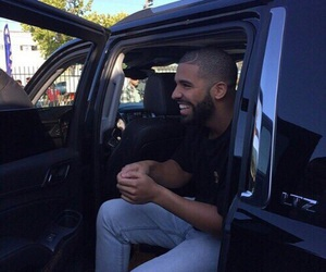 Drake, smile, and car image