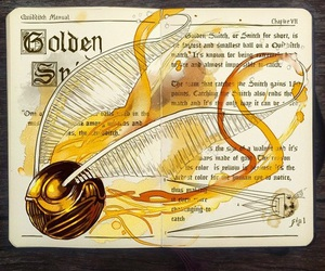 harry potter, golden snitch, and quidditch image