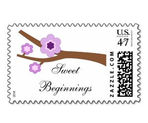 branch, stamp, and flower image