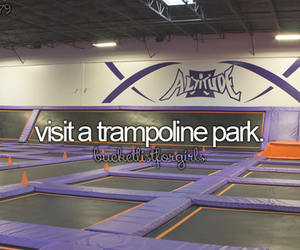 bucket list, trampoline, and before i die image