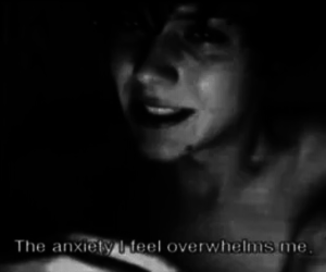 alone, anxiety, and b&w image