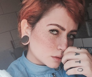 blue eye, freckles, and girl image