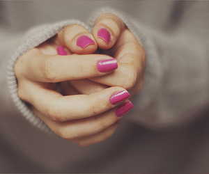 nails, pink, and hands image