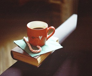 book, sweet, and coffee image