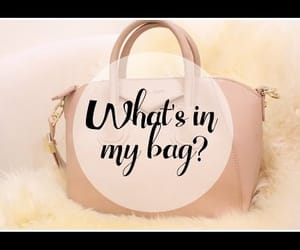 beauty, video, and what's in my bag image