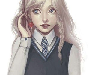 luna lovegood, harry potter, and luna image