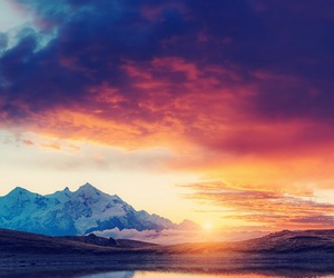 nature, sunset, and wallpaper image