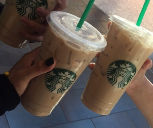 starbucks, friends, and aesthetic image