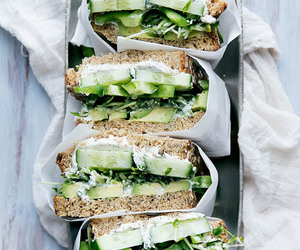 food, green, and sandwich image