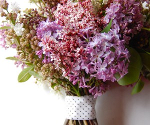 flowers, lilac, and bouquet image