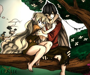 couple, mavis, and fairy tail image