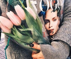 flowers, vogue, and tulips image