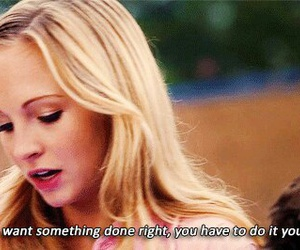 quote, tvd, and caroline forbes image