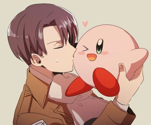 anime, kirby, and levi image