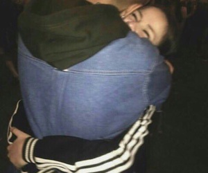 couple, hug, and goals image