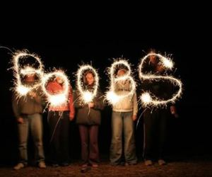 boobs, fireworks, and lights image
