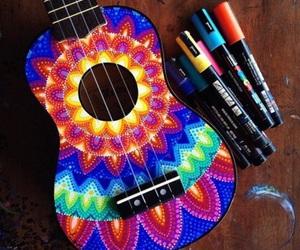 art, beautiful, and guitar image