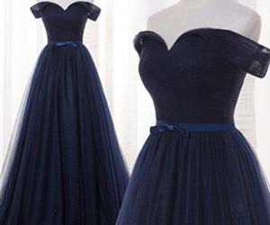 party dress, prom dresses, and navy blue prom dresses image