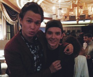 asa butterfield and ansel elgort image