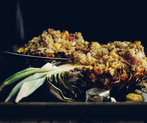 quinoa, bacon, and pineapple image