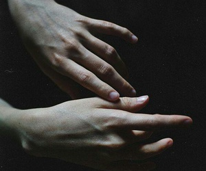 hands, dark, and grunge image