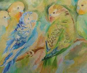 birds, etsy, and hand painted image