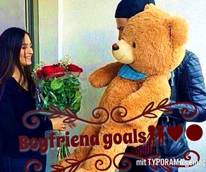 bear, roses, and boyfriend image