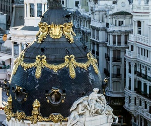 city, madrid, and architecture image