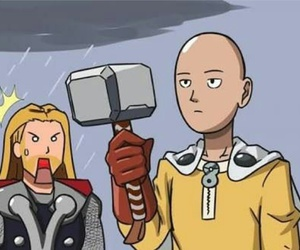 thor and one punch man image