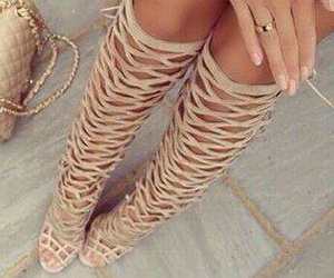 nude boots and summer boots image