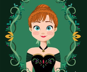princess, disney, and anna image