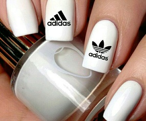 nails, adidas, and white image
