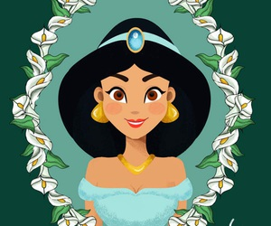 jasmine, princess, and disney image
