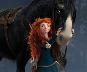 brave, horse, and merida image