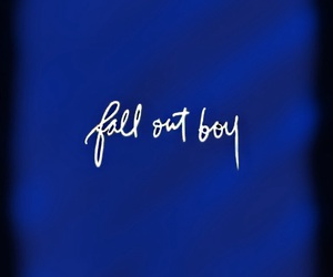 bands, fall out boy, and Logo image