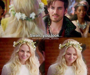 once upon a time, captain swan, and captain hook image