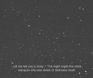 stars, afraid, and night image