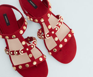 mango, red, and sandals image