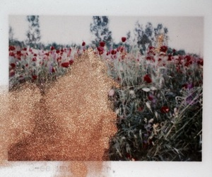 flowers, art, and glitter image