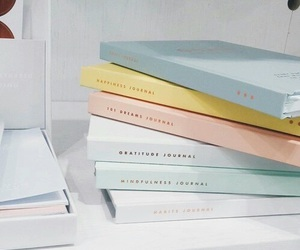 pastel, book, and pink image