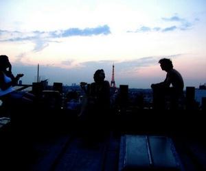 friends, paris, and sky image