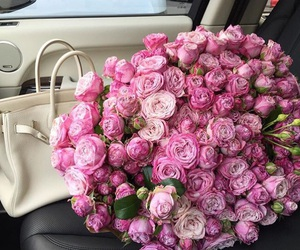 Birkin, flowers, and glam image