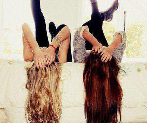 friends, hair, and best friends image