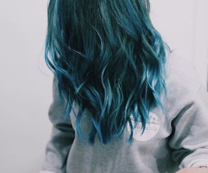hair, blue, and hairstyle image