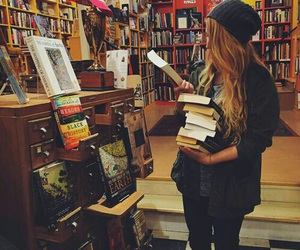 book and girl image