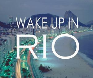 brazil, rio, and beach image